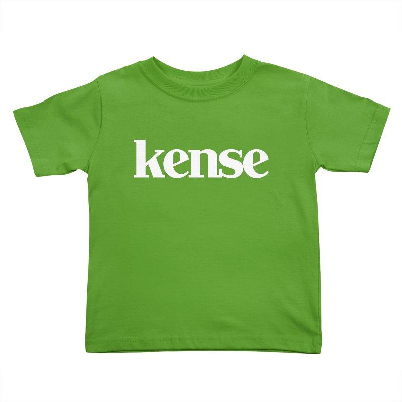 kense Original Logo (White) Kids Toddler T-Shirt by kense's Shop