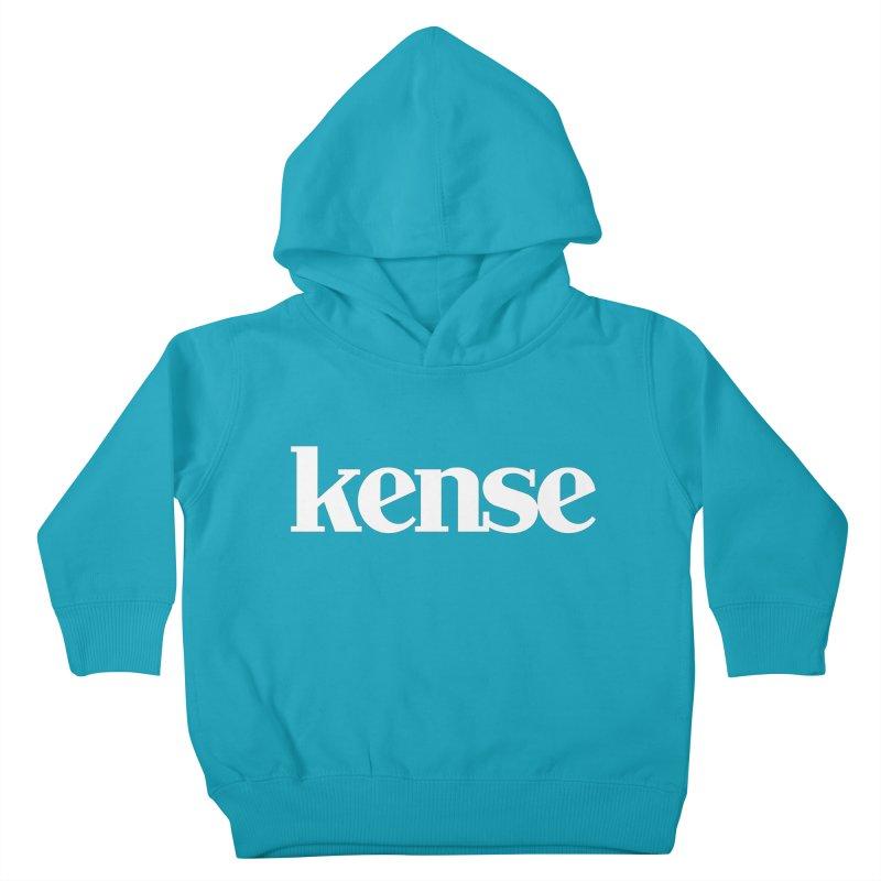 kense Original Logo (White) Kids Toddler Pullover Hoody by kense's Shop