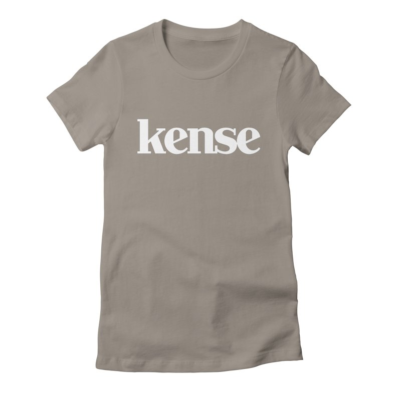 kense Original Logo (White) Women's Fitted T-Shirt by kense's Shop
