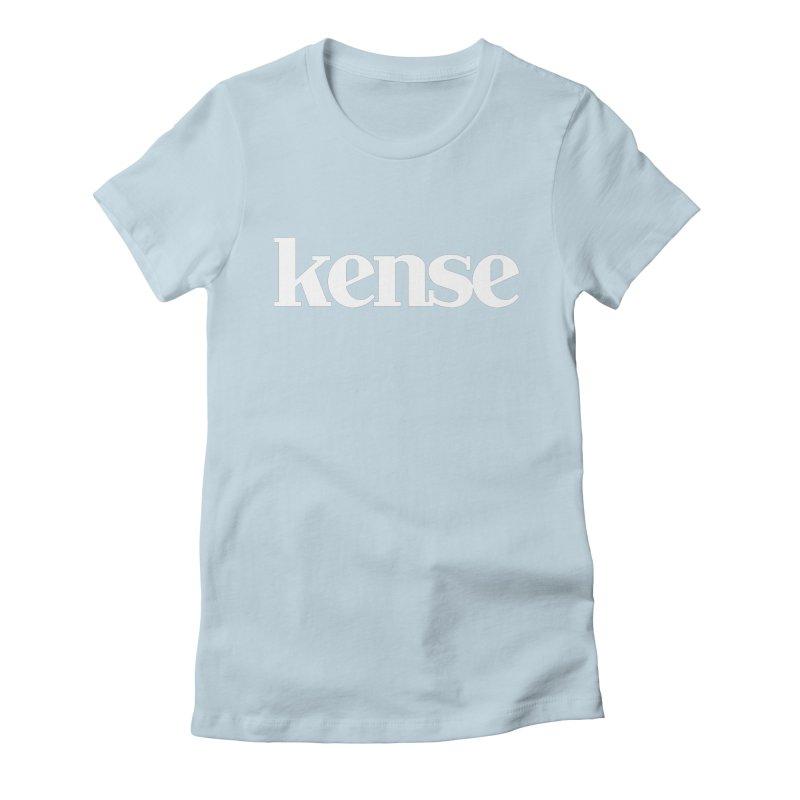 kense Original Logo (White) Women's Fitted T-Shirt by kense's Shop