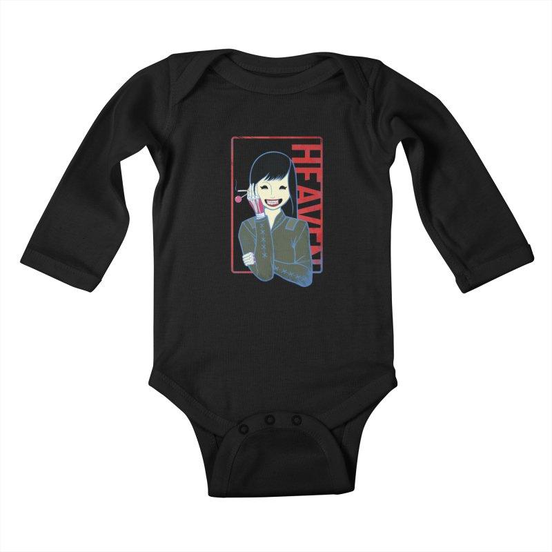 Stamp of Heaven Kids Baby Longsleeve Bodysuit by kentackett's Artist Shop