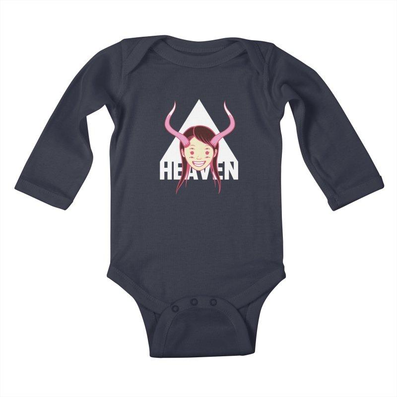 Heaven Kids Baby Longsleeve Bodysuit by kentackett's Artist Shop