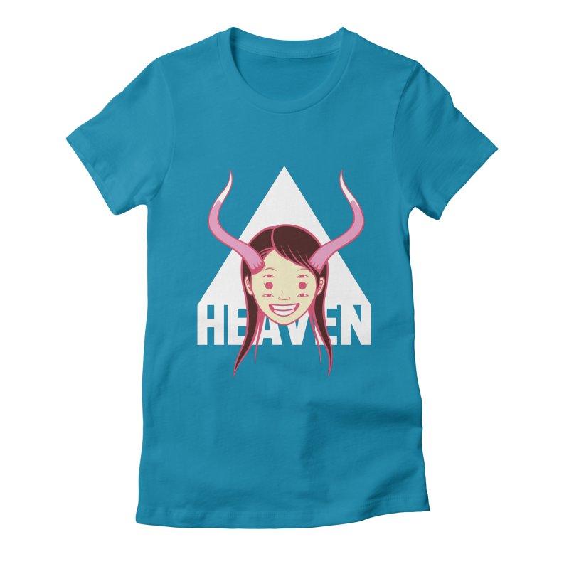 Heaven Women's Fitted T-Shirt by kentackett's Artist Shop