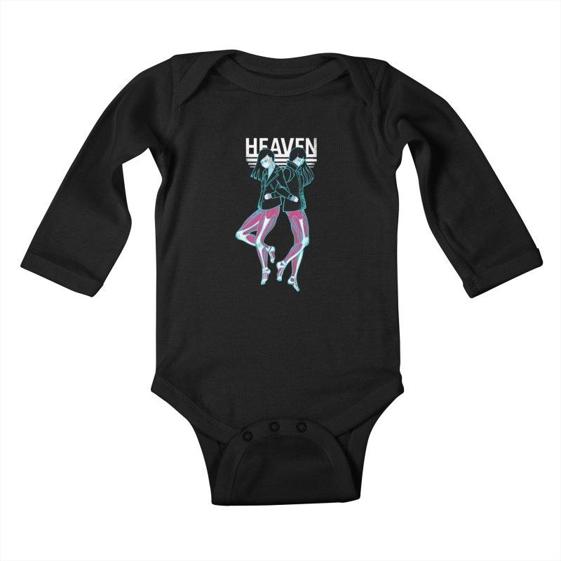 Closer to Heaven-Sisters Kids Baby Longsleeve Bodysuit by kentackett's Artist Shop