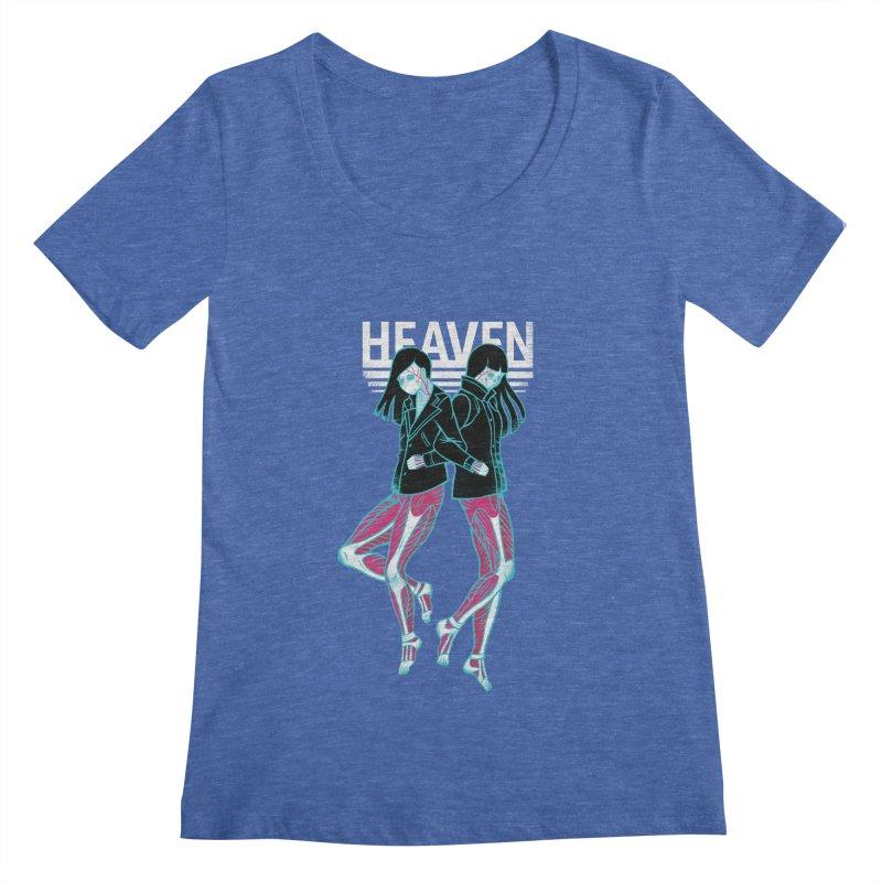 Closer to Heaven-Sisters Women's Scoopneck by kentackett's Artist Shop