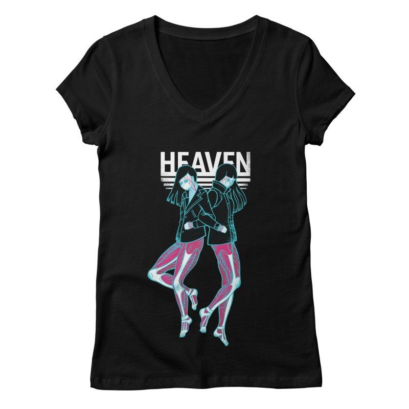 Closer to Heaven-Sisters Women's V-Neck by kentackett's Artist Shop