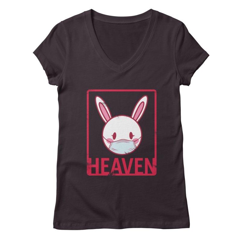 Closer to Heaven-Safety Women's V-Neck by kentackett's Artist Shop