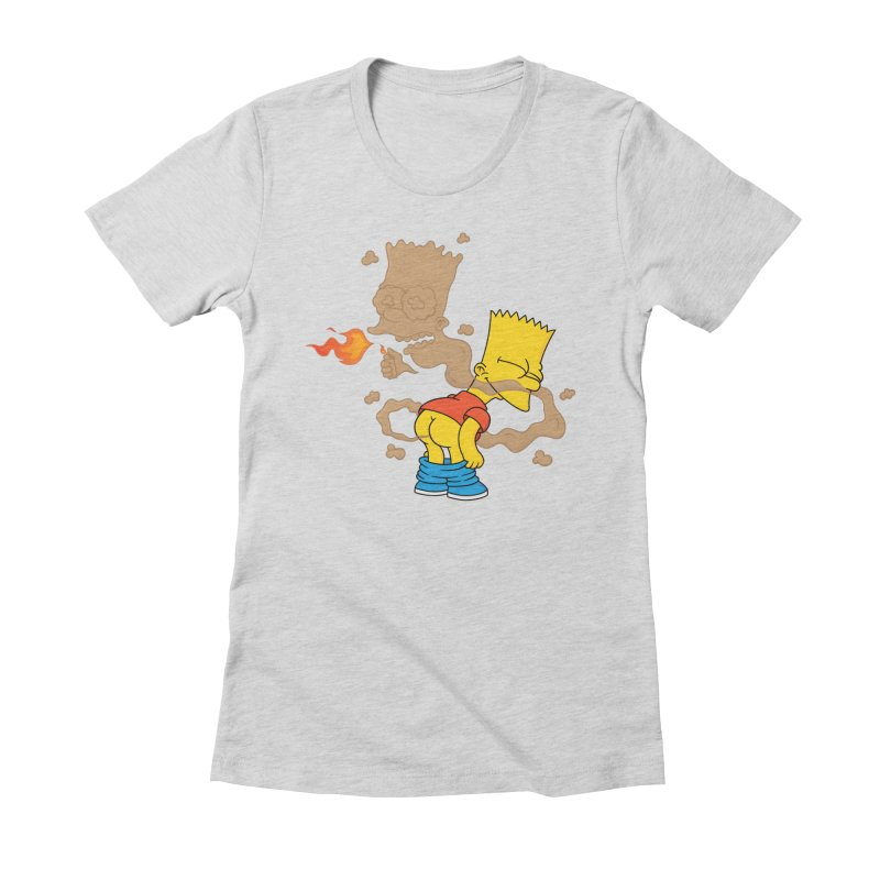 Fart Simpson Women's Fitted T-Shirt by KENYONB Threadless Shop