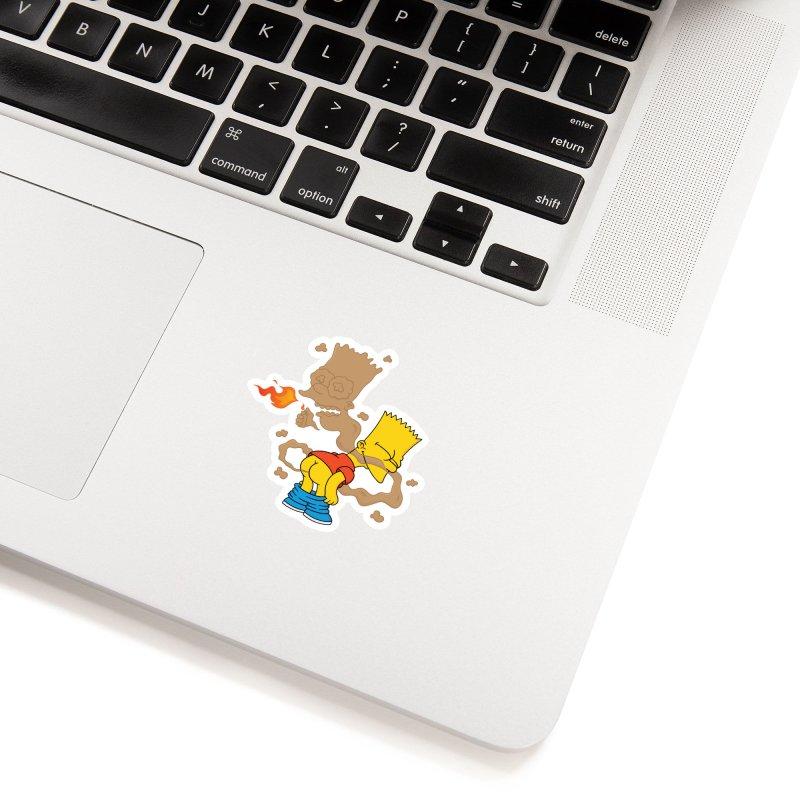 Fart Simpson Accessories Sticker by KENYONB Threadless Shop