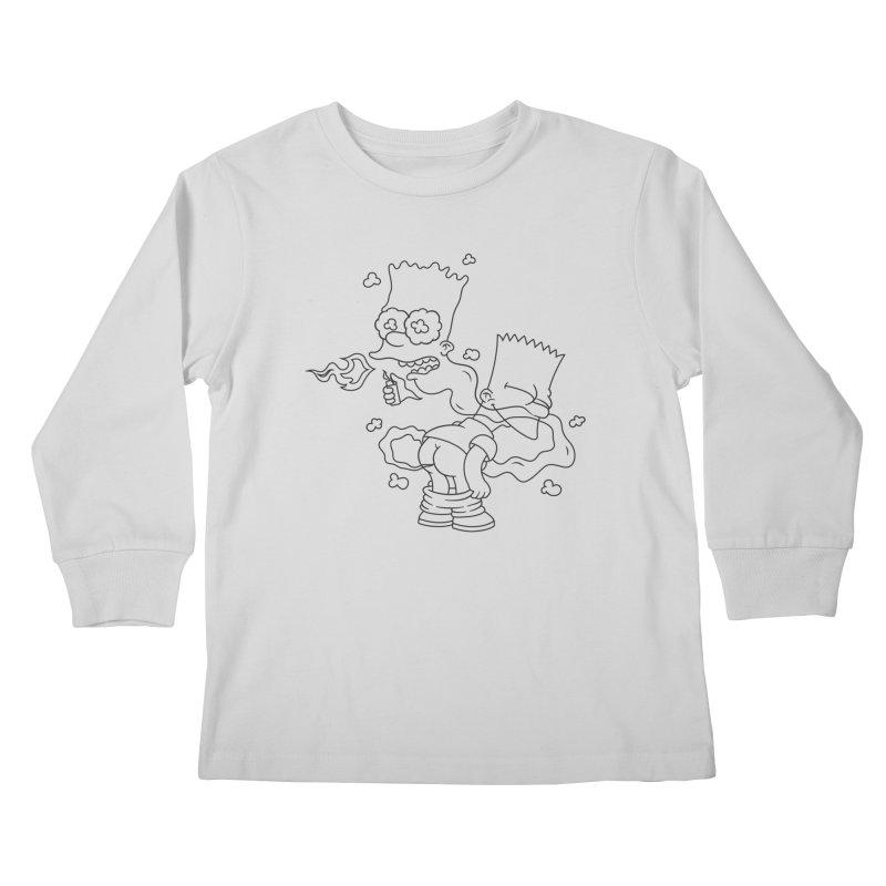 Fart Simpson Kids Longsleeve T-Shirt by KENYONB Threadless Shop