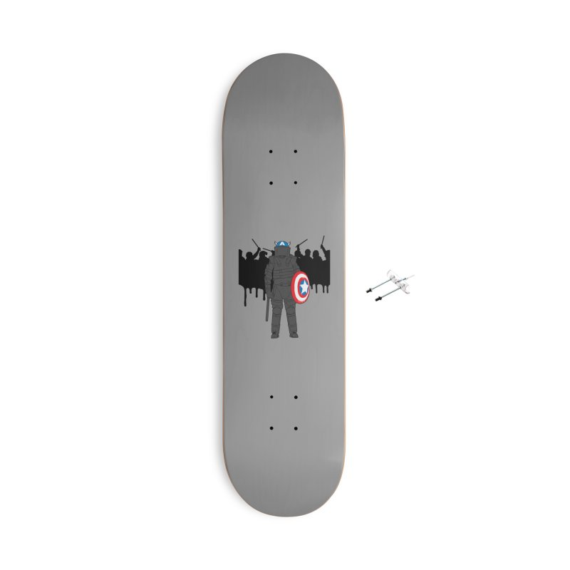 World Police Accessories With Hanging Hardware Skateboard by KENYONB Threadless Shop
