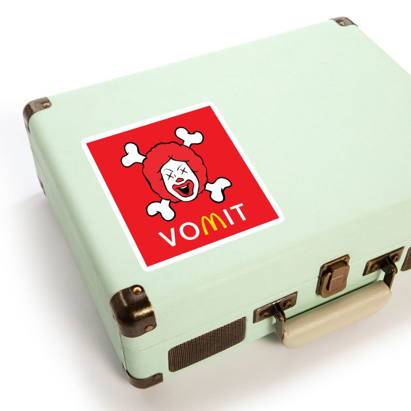 VOMIT Ronald Accessories Sticker by KENYONB Threadless Shop