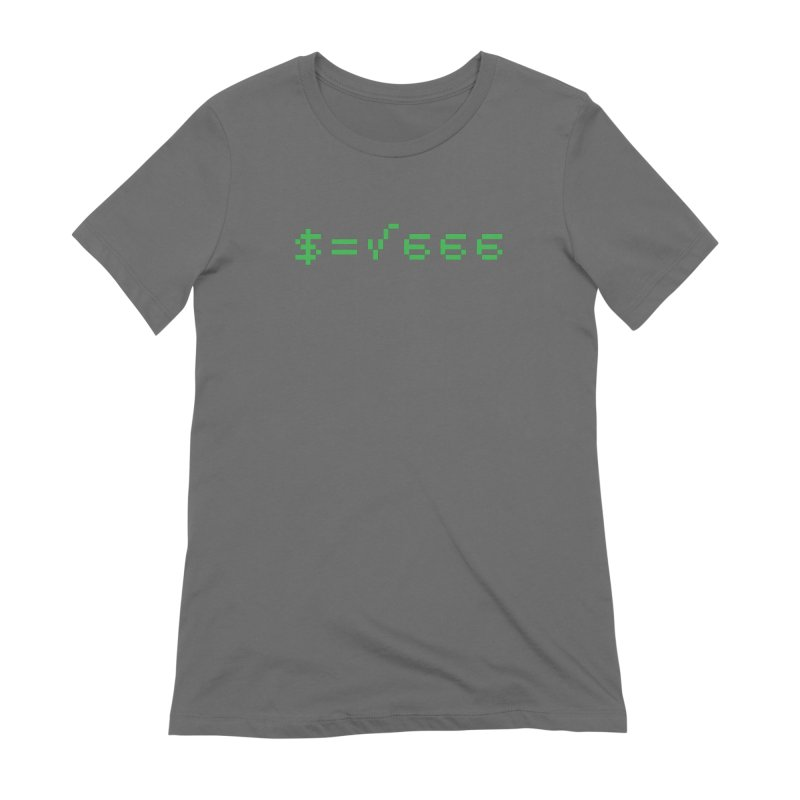 Square Root of Evil Women's Extra Soft T-Shirt by KENYONB Threadless Shop