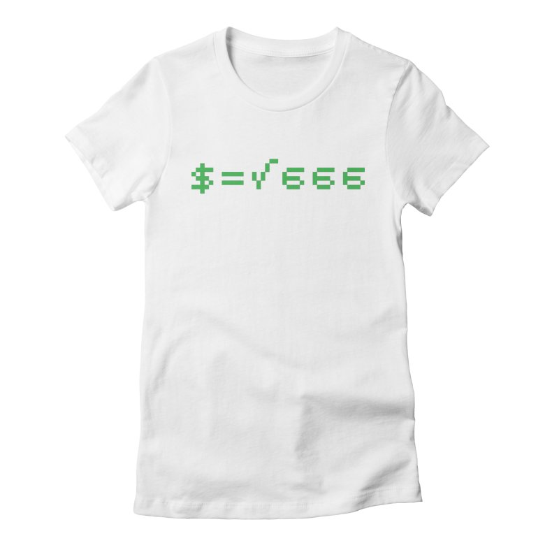 Square Root of Evil Women's Fitted T-Shirt by KENYONB Threadless Shop