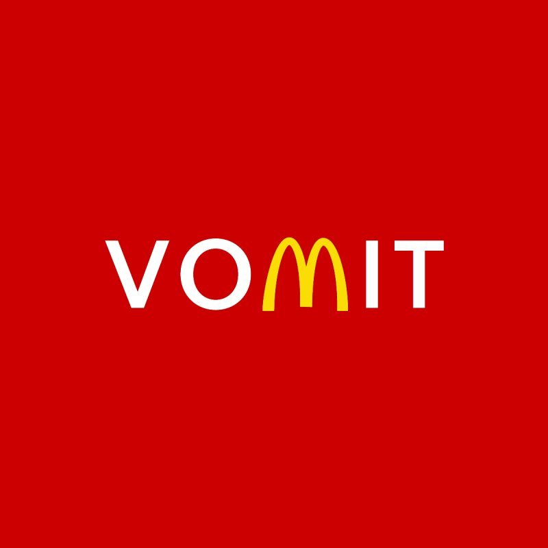 VOMIT Logotype Men's T-Shirt by KENYONB Threadless Shop