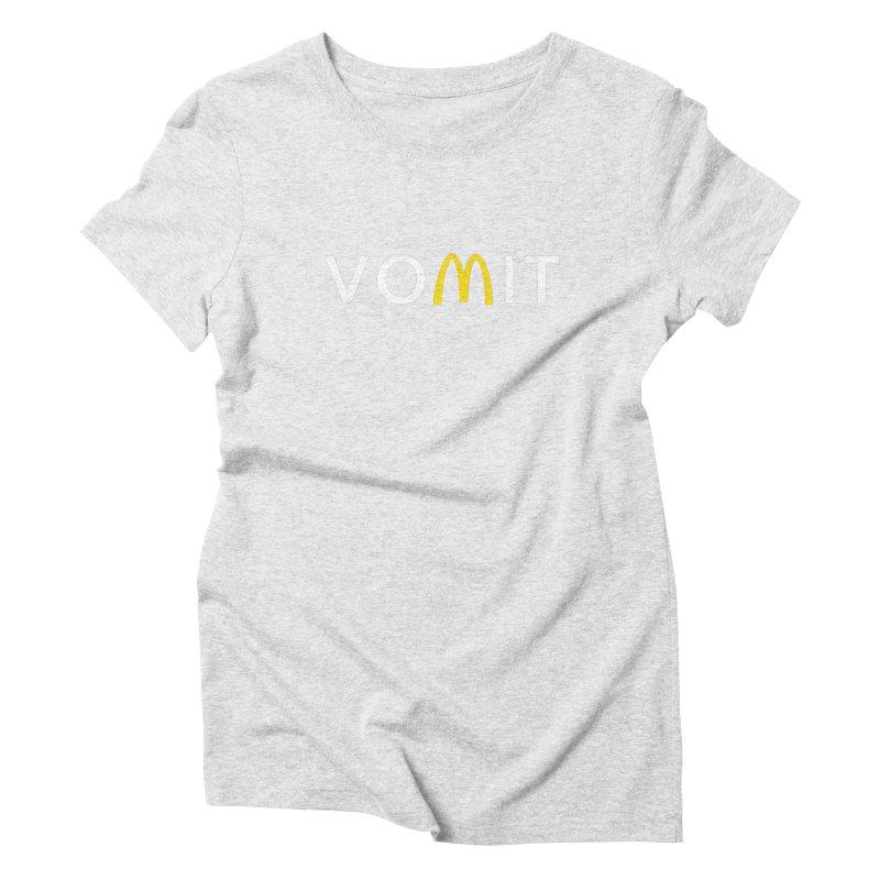 VOMIT Logotype Women's Triblend T-Shirt by KENYONB Threadless Shop