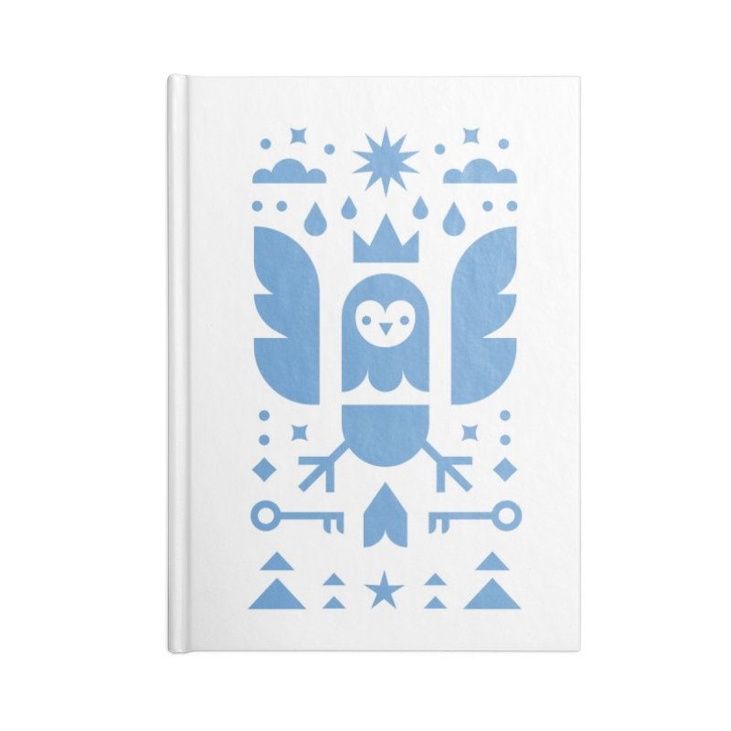 Wise Owl Blue Accessories Blank Journal Notebook by kevincraftco's Artist Shop