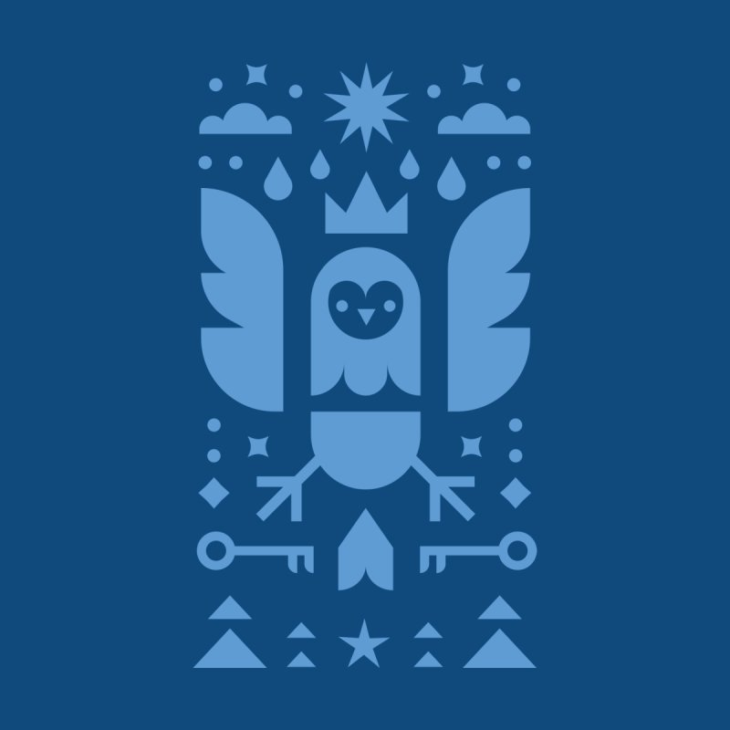 Wise Owl Blue Men's T-Shirt by kevincraftco's Artist Shop