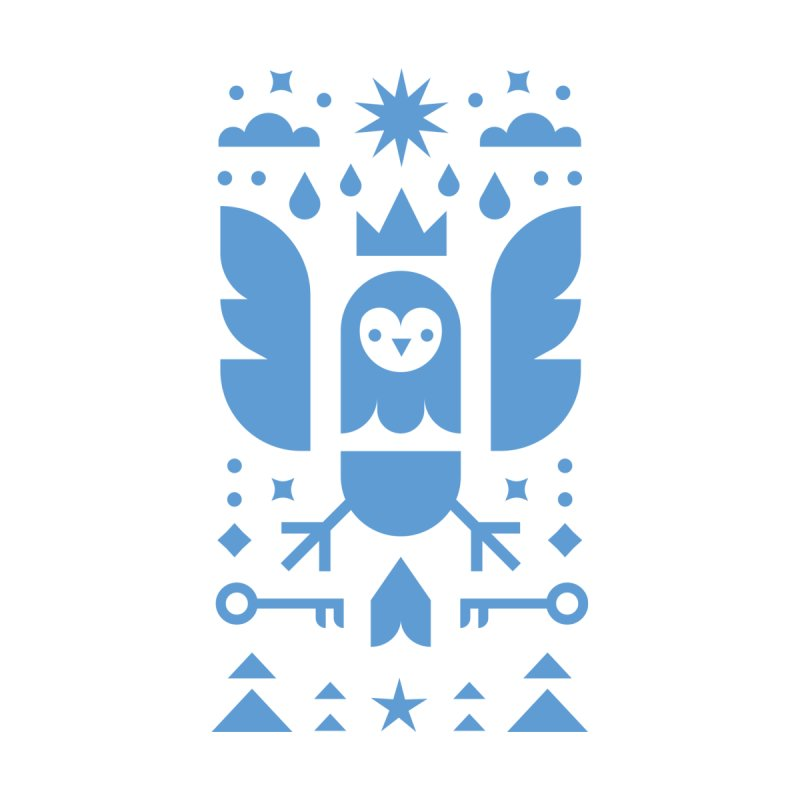 Wise Owl Blue by kevincraftco's Artist Shop