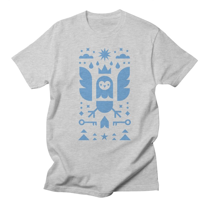 Wise Owl Blue Women's Regular Unisex T-Shirt by kevincraftco's Artist Shop