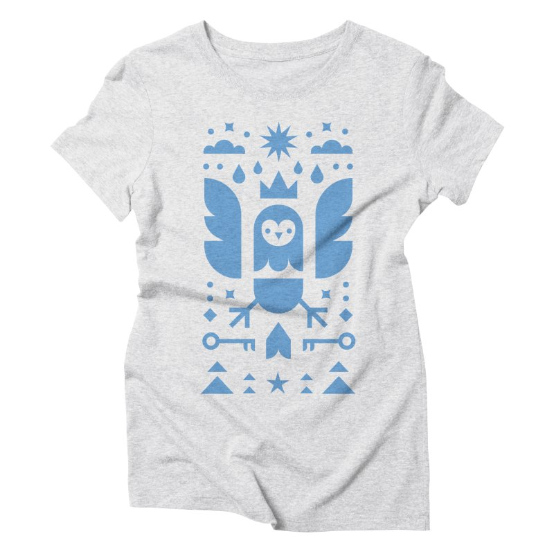 Wise Owl Blue Women's Triblend T-Shirt by kevincraftco's Artist Shop