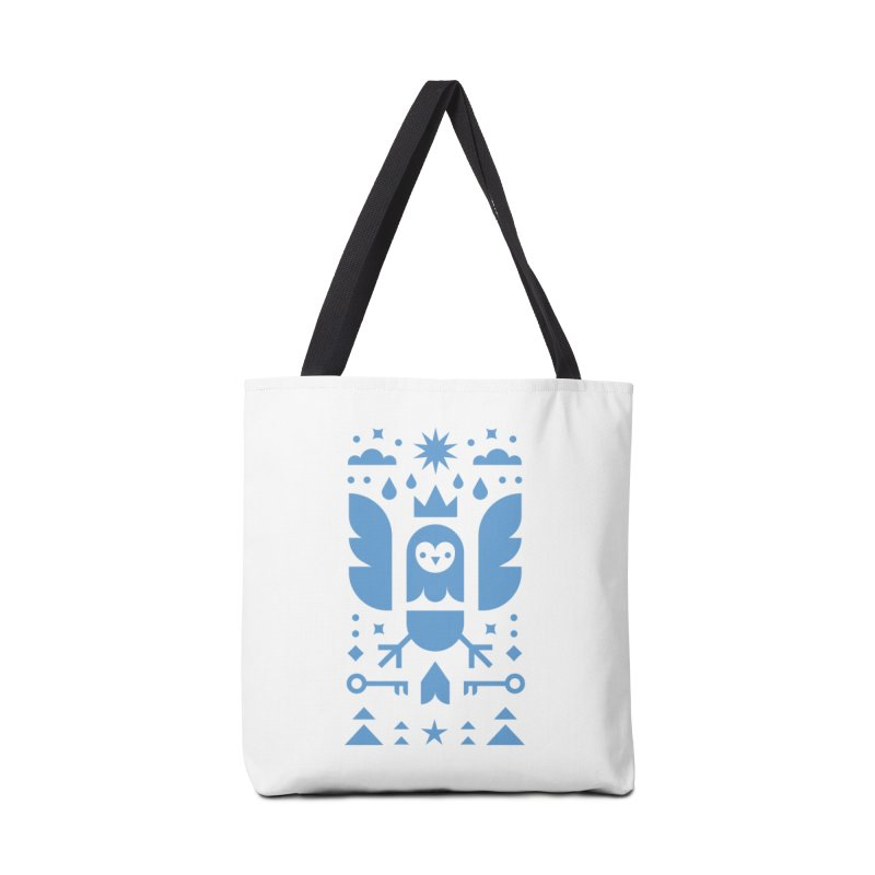 Wise Owl Blue Accessories Tote Bag Bag by kevincraftco's Artist Shop