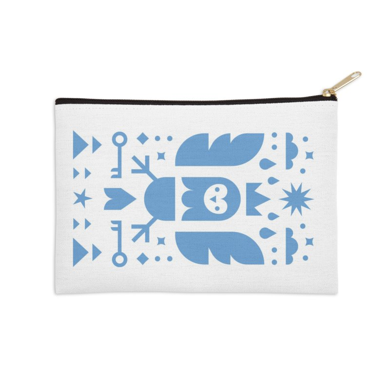 Wise Owl Blue Accessories Zip Pouch by kevincraftco's Artist Shop