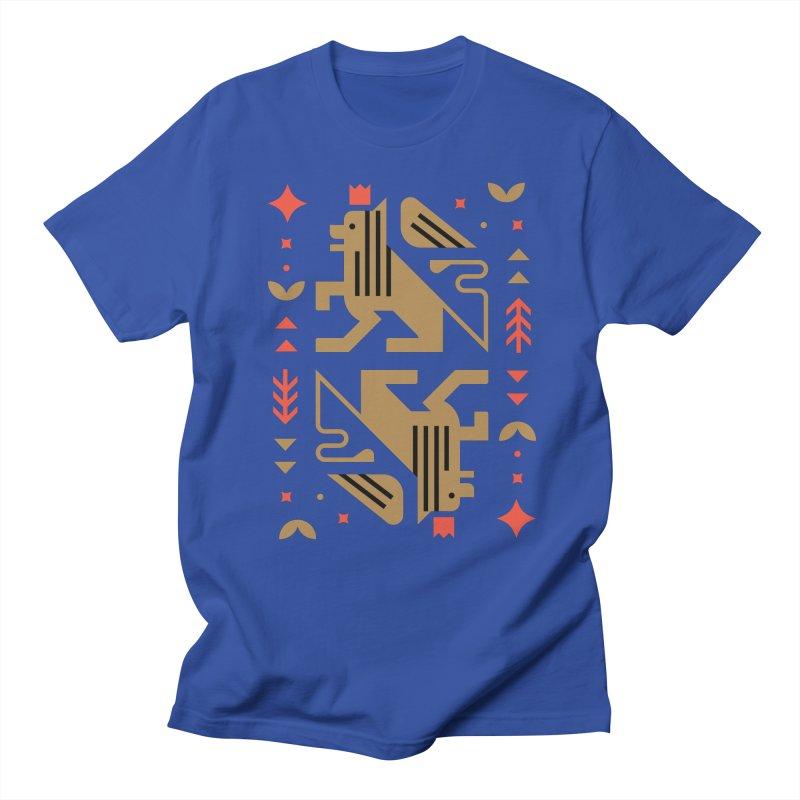Proud Lion Gold Women's T-Shirt by kevincraftco's Artist Shop