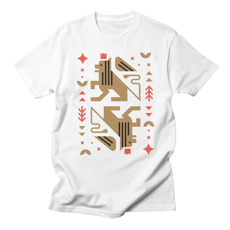 Proud Lion Gold Women's Regular Unisex T-Shirt by kevincraftco's Artist Shop