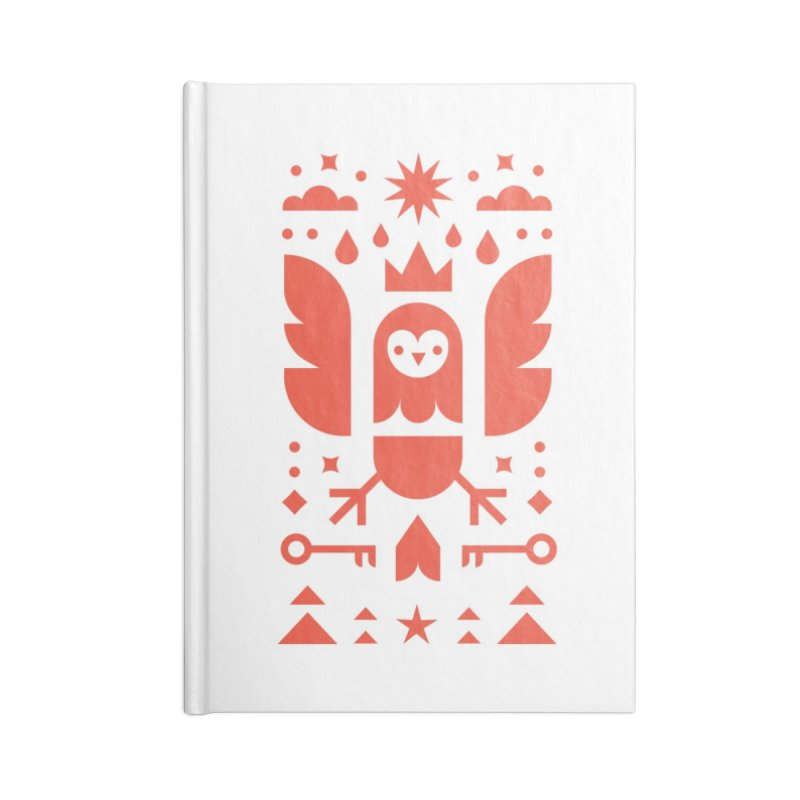 Wise Owl Red Accessories Lined Journal Notebook by kevincraftco's Artist Shop