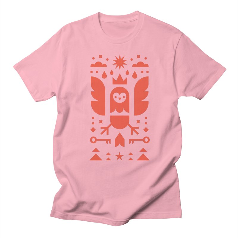 Wise Owl Red Women's Regular Unisex T-Shirt by kevincraftco's Artist Shop