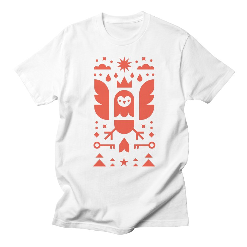 Wise Owl Red Women's T-Shirt by kevincraftco's Artist Shop