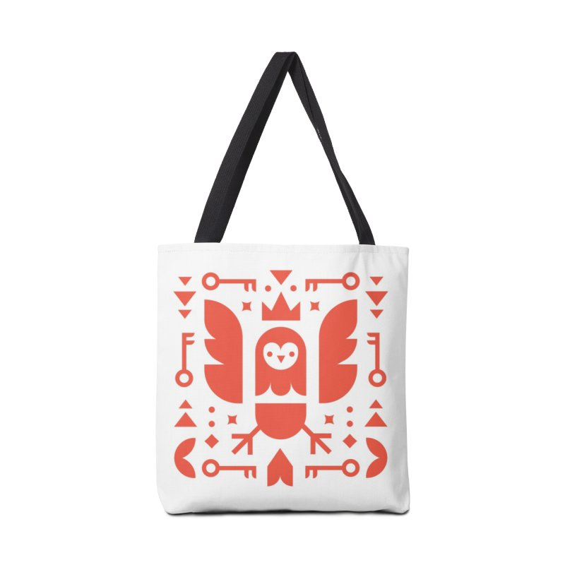 Wise Owl Red Accessories Tote Bag Bag by kevincraftco's Artist Shop