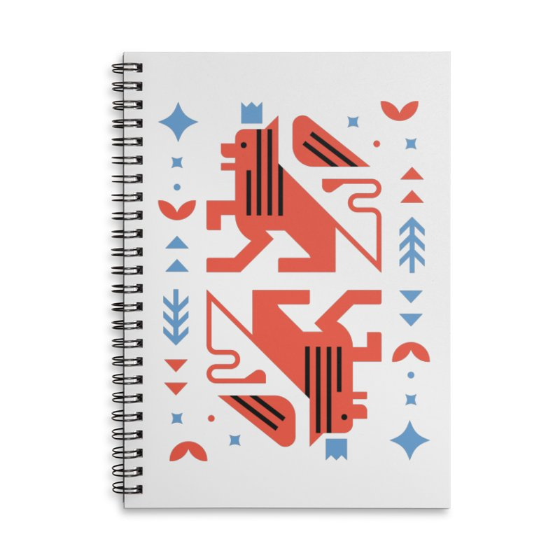 Proud Lion Red Accessories Notebook by kevincraftco's Artist Shop