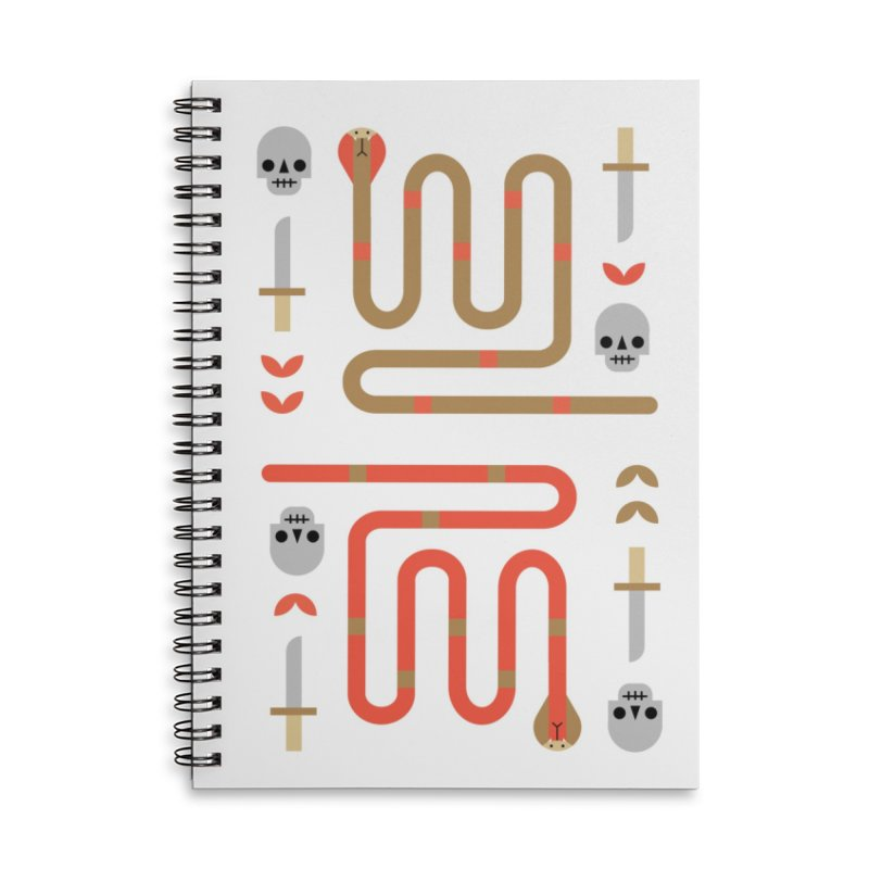 Sly Snake Gold Accessories Notebook by kevincraftco's Artist Shop