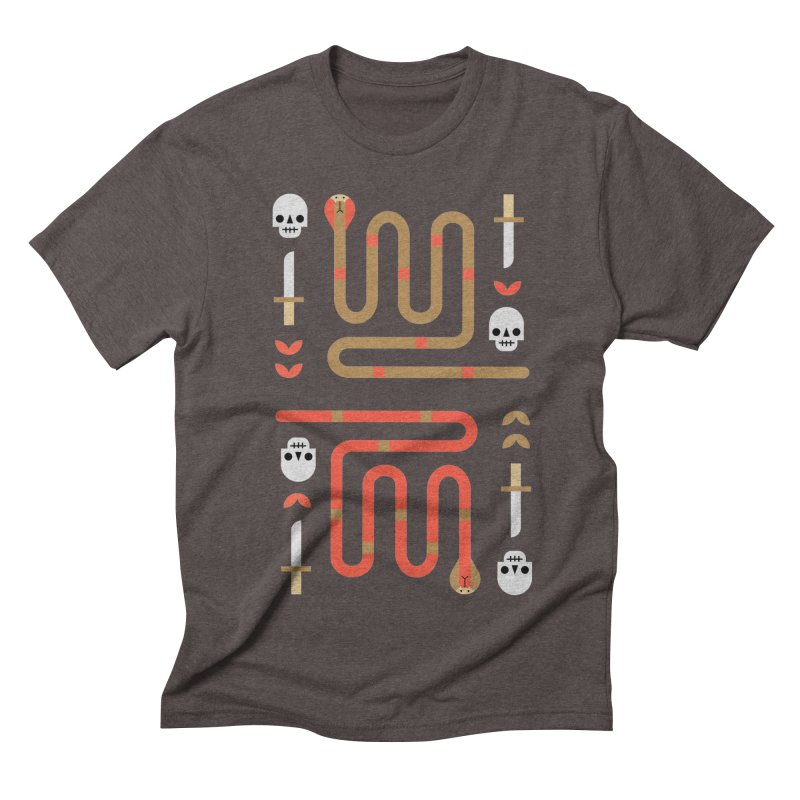 Sly Snake Gold Men's T-Shirt by kevincraftco's Artist Shop