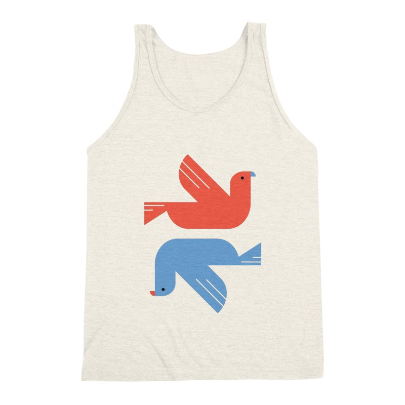 Red Dove Blue Dove Men's Tank by kevincraftco's Artist Shop