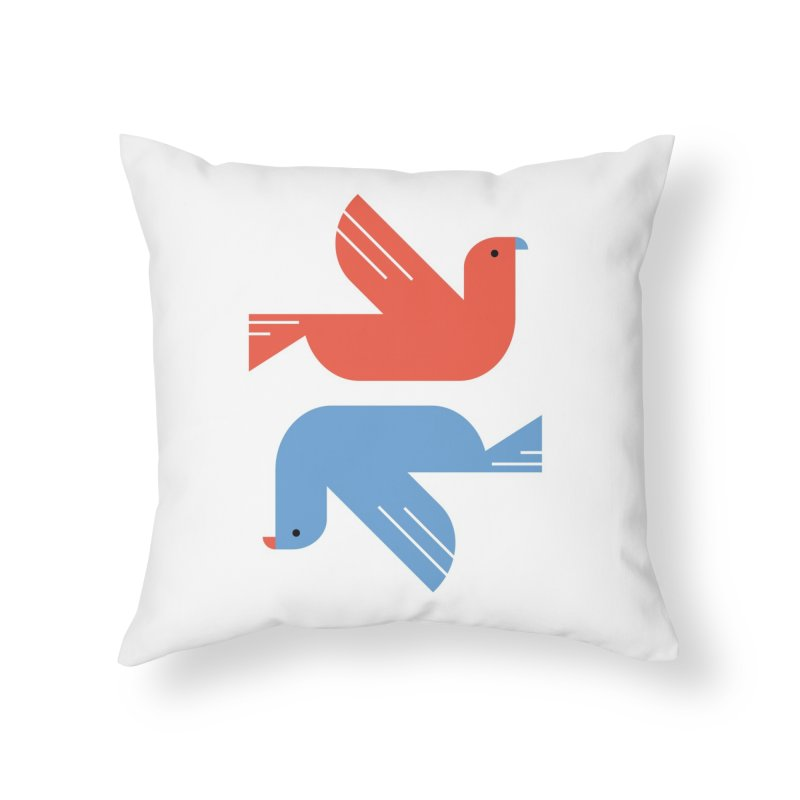 Red Dove Blue Dove Home Throw Pillow by kevincraftco's Artist Shop