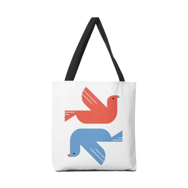 Red Dove Blue Dove Accessories Bag by kevincraftco's Artist Shop