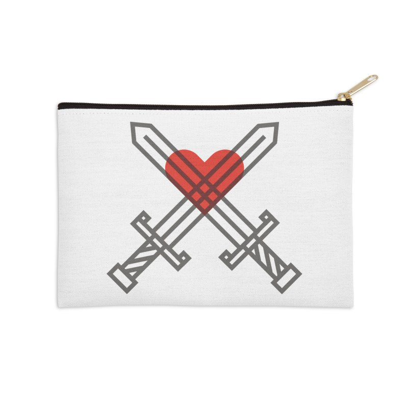 Love and War Accessories Zip Pouch by kevincraftco's Artist Shop