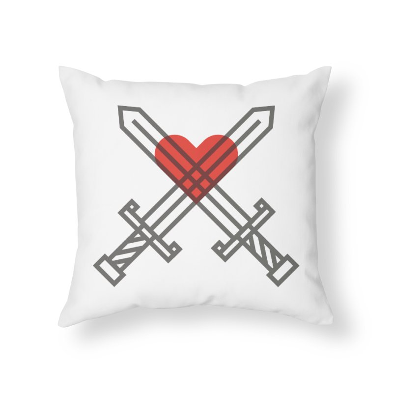 Love and War Home Throw Pillow by kevincraftco's Artist Shop