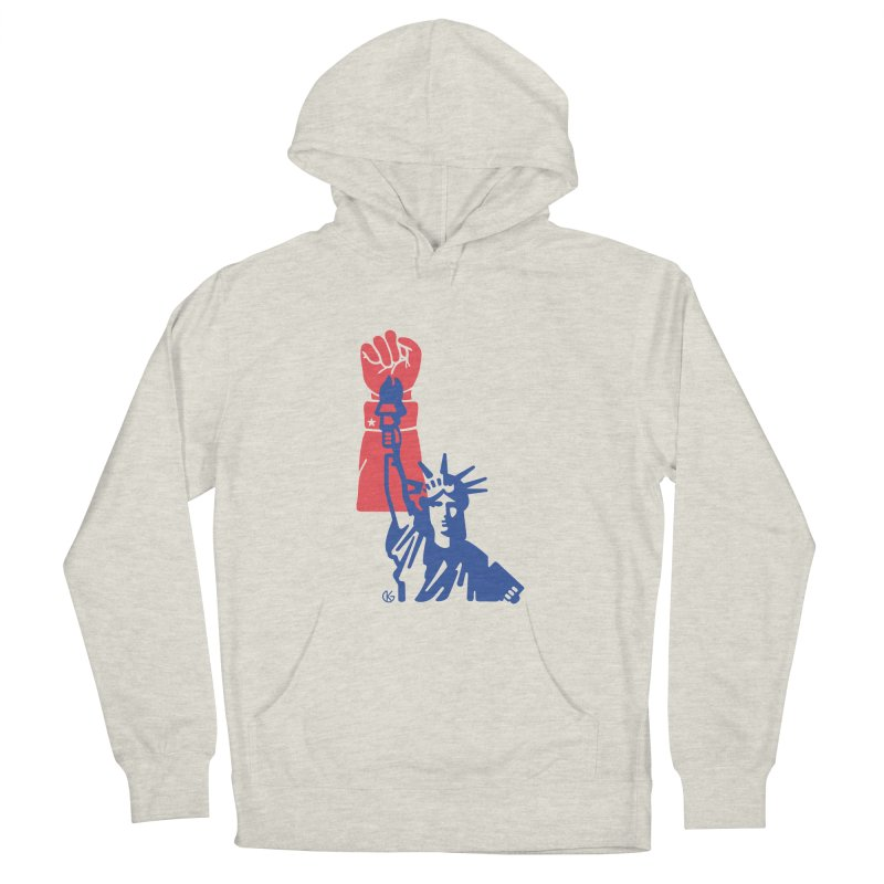 Liberty For All Men's French Terry Pullover Hoody by Kevin's Pop Shop