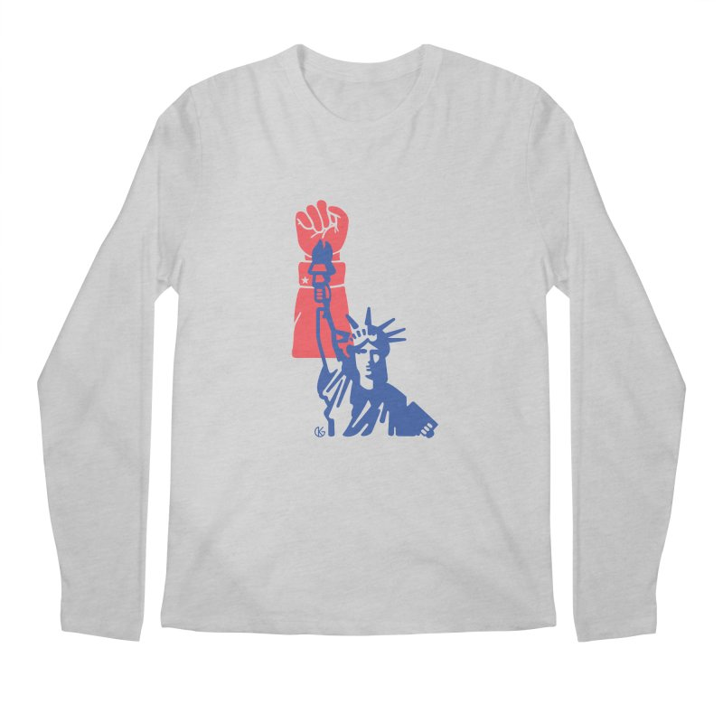 Liberty For All Men's Regular Longsleeve T-Shirt by Kevin's Pop Shop