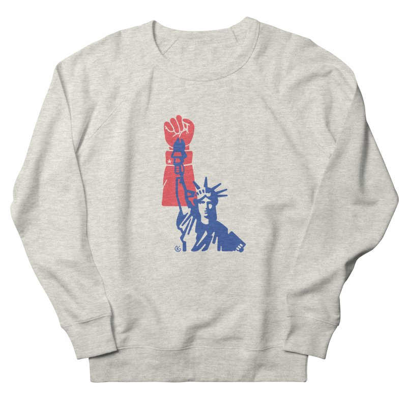 Liberty For All Women's French Terry Sweatshirt by Kevin's Pop Shop