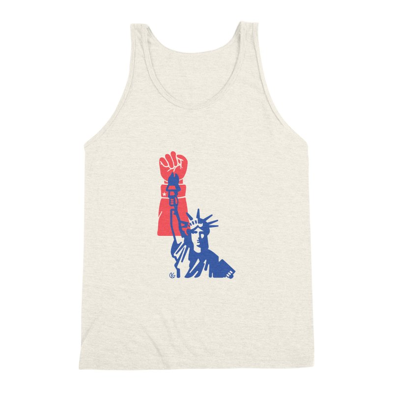 Liberty For All Men's Triblend Tank by Kevin's Pop Shop