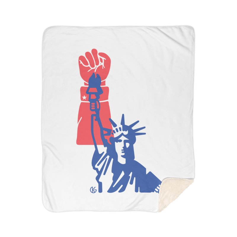 Liberty For All Home Blanket by Kevin's Pop Shop