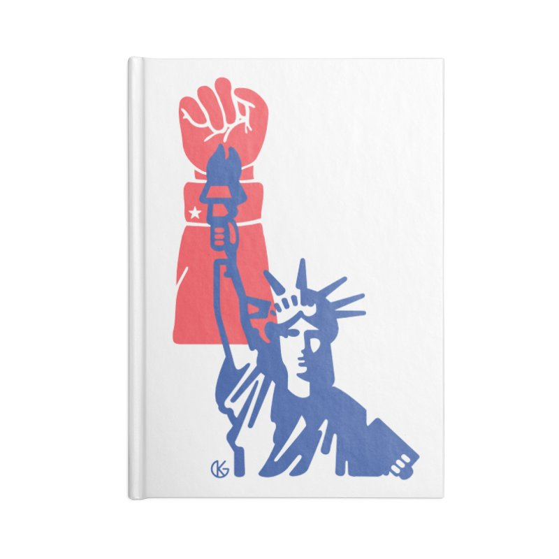 Liberty For All Accessories Lined Journal Notebook by Kevin's Pop Shop