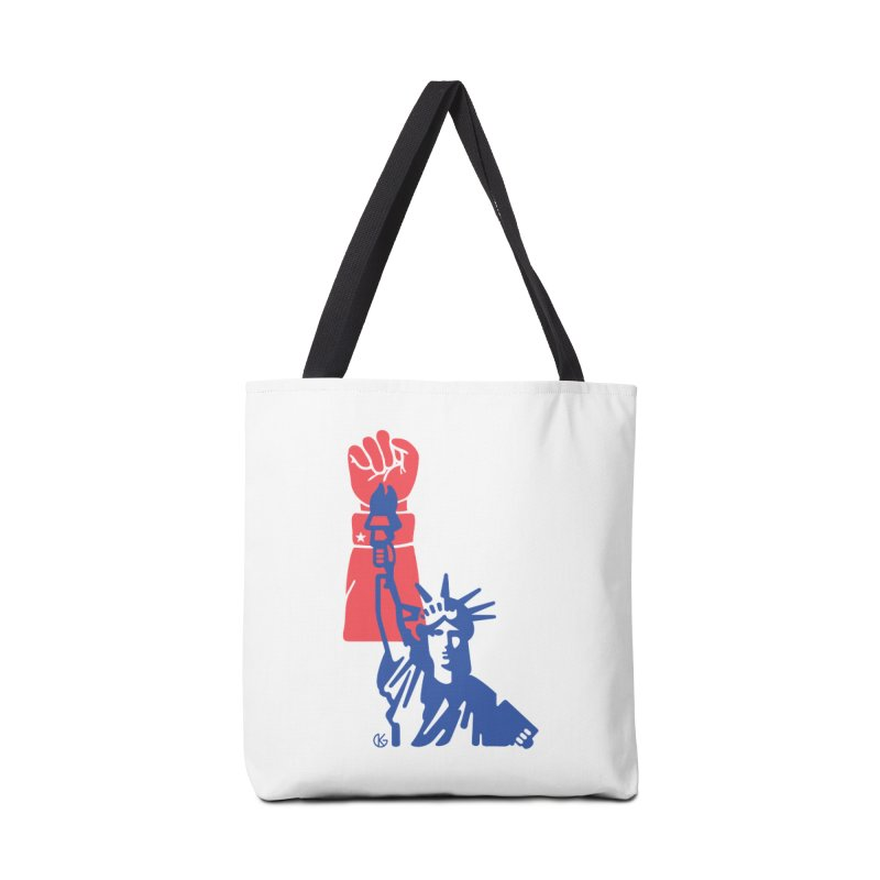 Liberty For All Accessories Tote Bag Bag by Kevin's Pop Shop