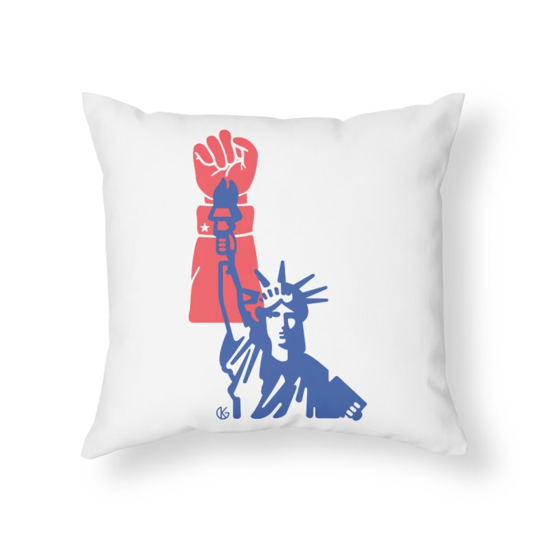 Liberty For All Home Throw Pillow by Kevin's Pop Shop