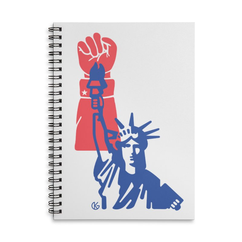 Liberty For All Accessories Lined Spiral Notebook by Kevin's Pop Shop